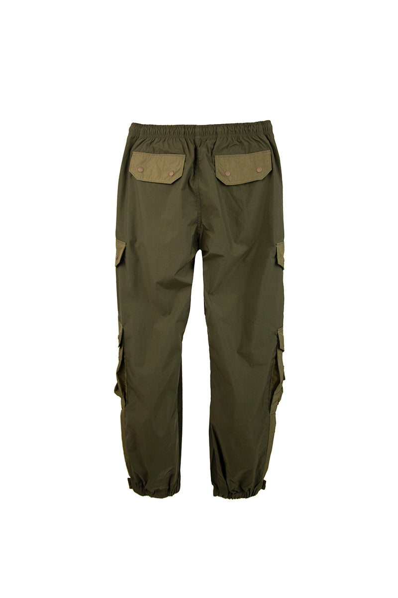 John Elliot - Olive Paneled Nylon Cargo Pants | 1032 SPACE