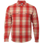 Red and Natural Wool Jupiter Shirt