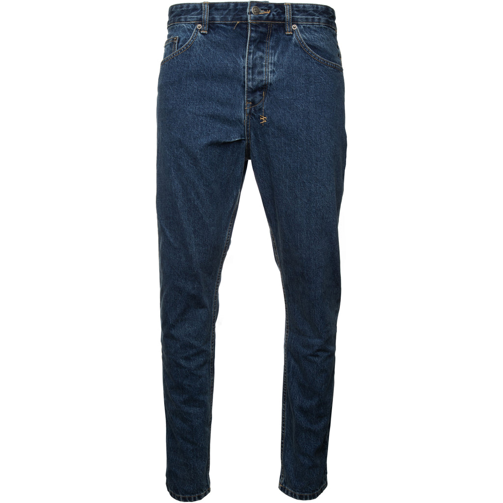 Blue Old Skool School Wolf gang Indigo Denim Tapered Jeans Ksubi Subi Soobee Subee