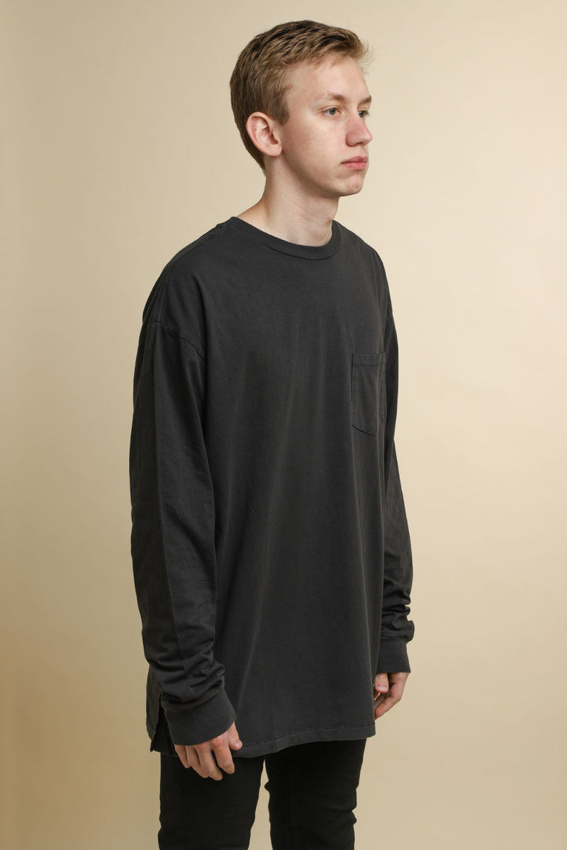 Ksubi - Black Cache Pocket Long Sleeve T-Shirt