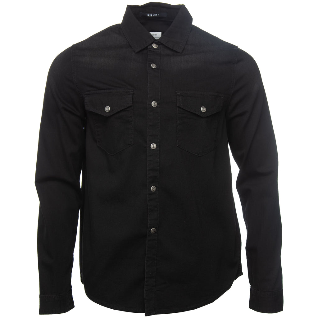 Black De Nimes Denim Shirt