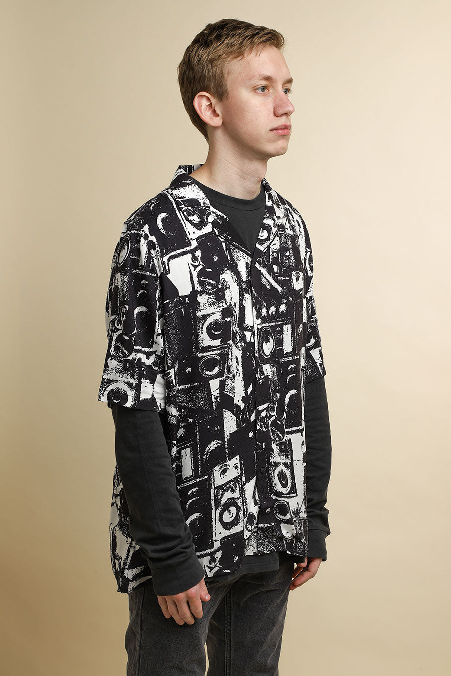Ksubi - Black & White Dub Machine Resort Shirt