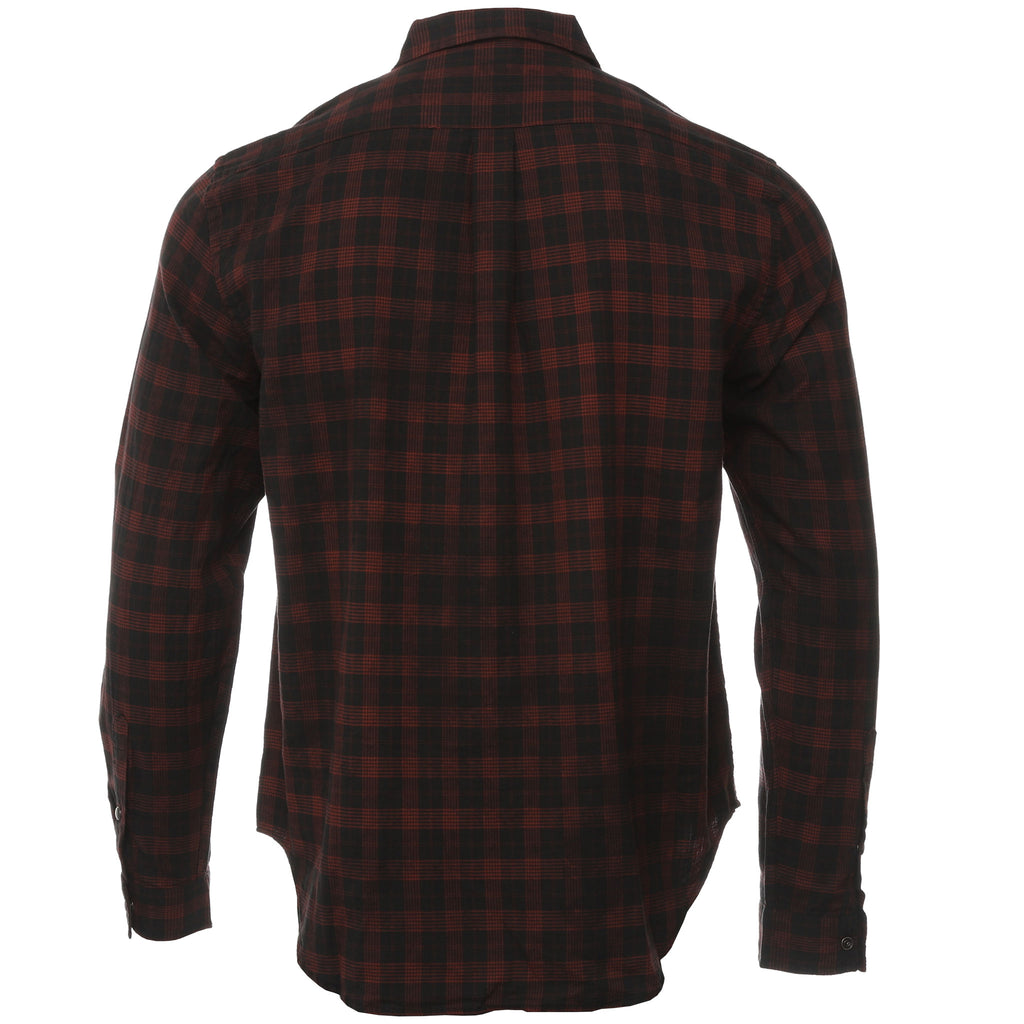 Ksubi Black and Red Plaid Malcome Button Down Shirt Back