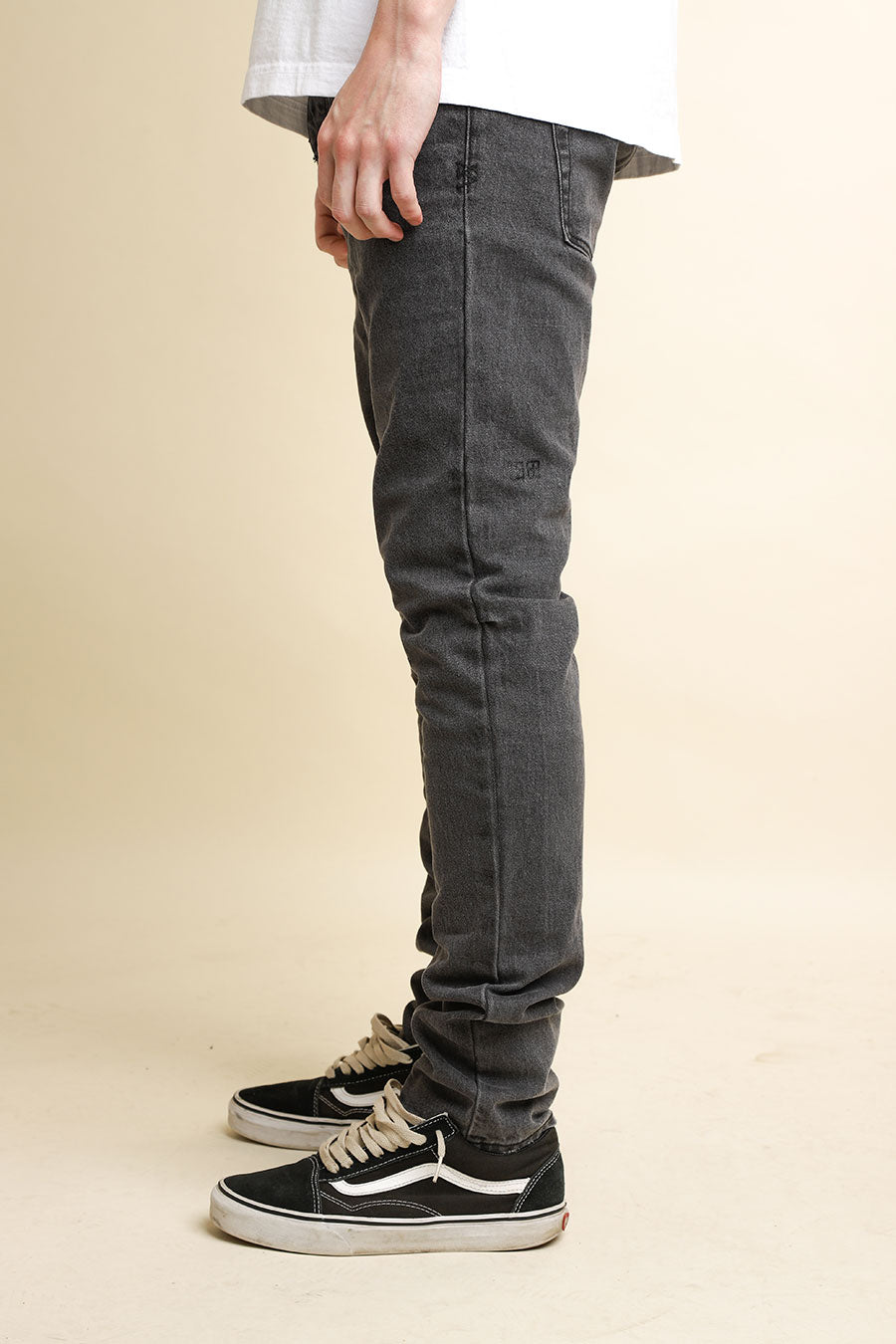 Ksubi - Dark Grey Chitch Washed Cement Jeans