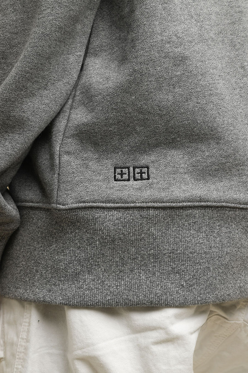 Ksubi - Grey Fancy Dollar Logo Hoodie
