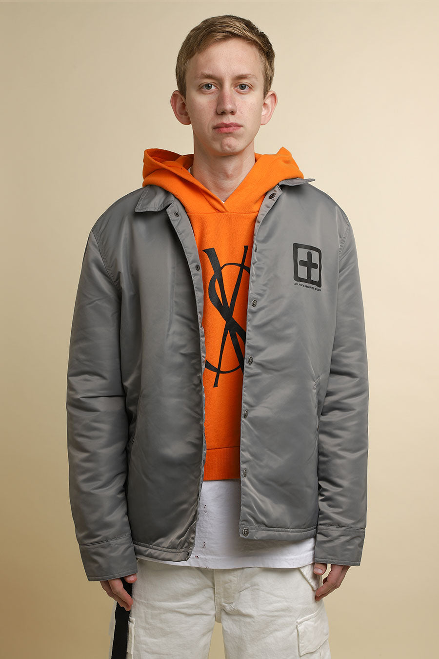 Ksubi - Grey Sign of the Times Coach Jacket