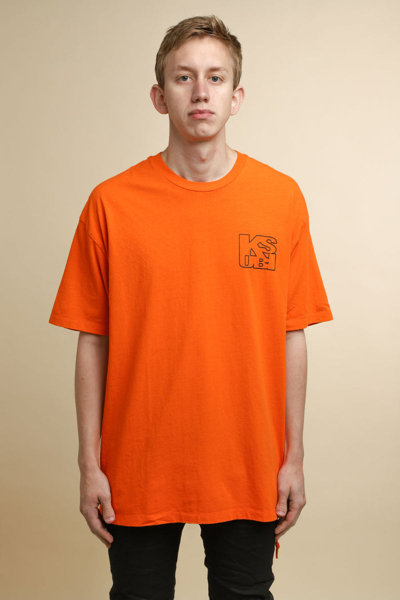 Ksubi - Orange Hazard Square T-Shirt