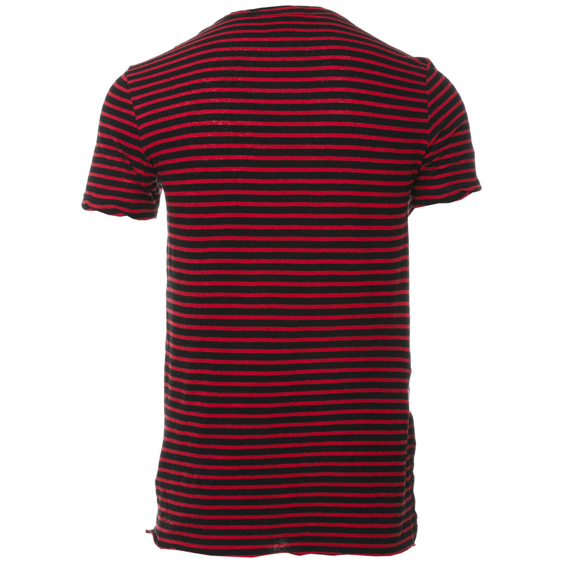 Ksubi - Red and Black Sinister Stripe T-Shirt