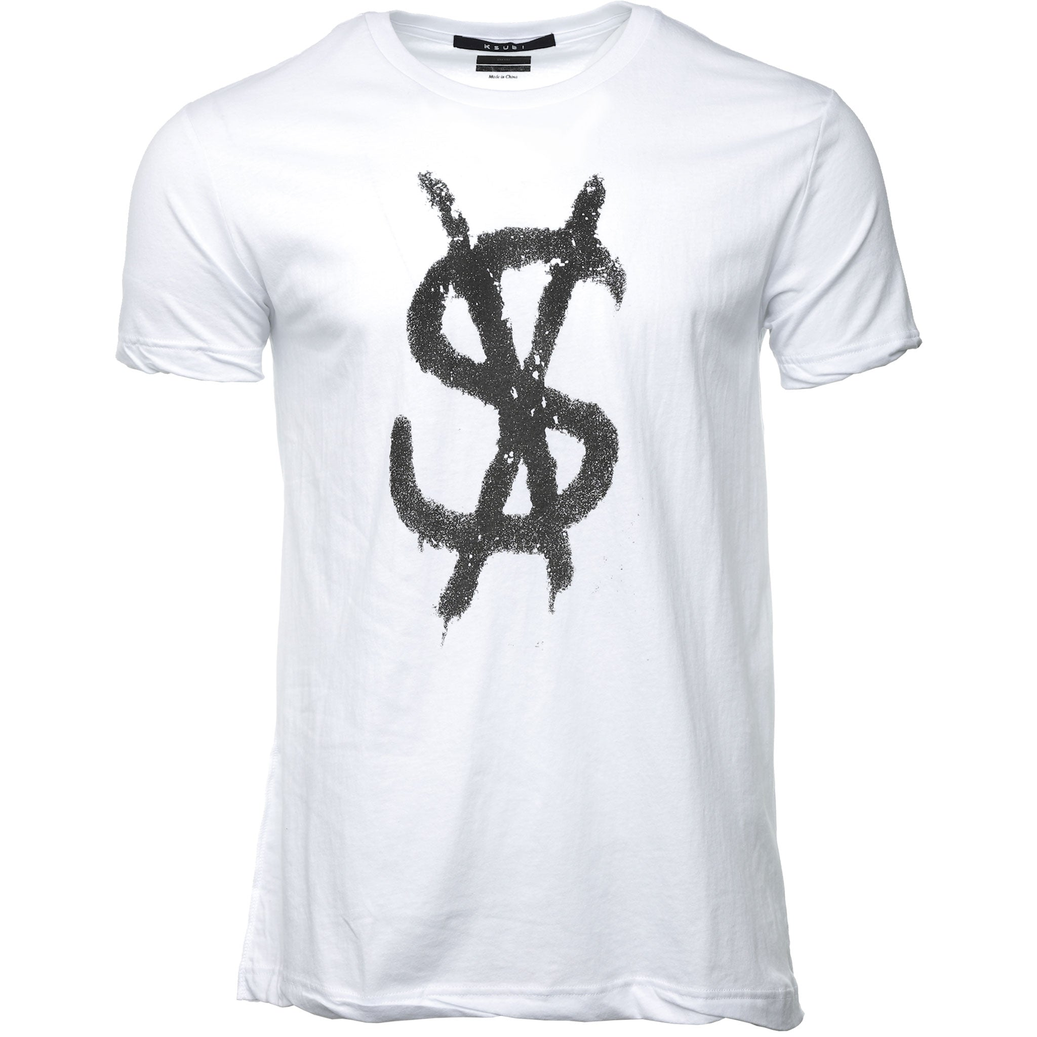 White Spray Dollar T-Shirt