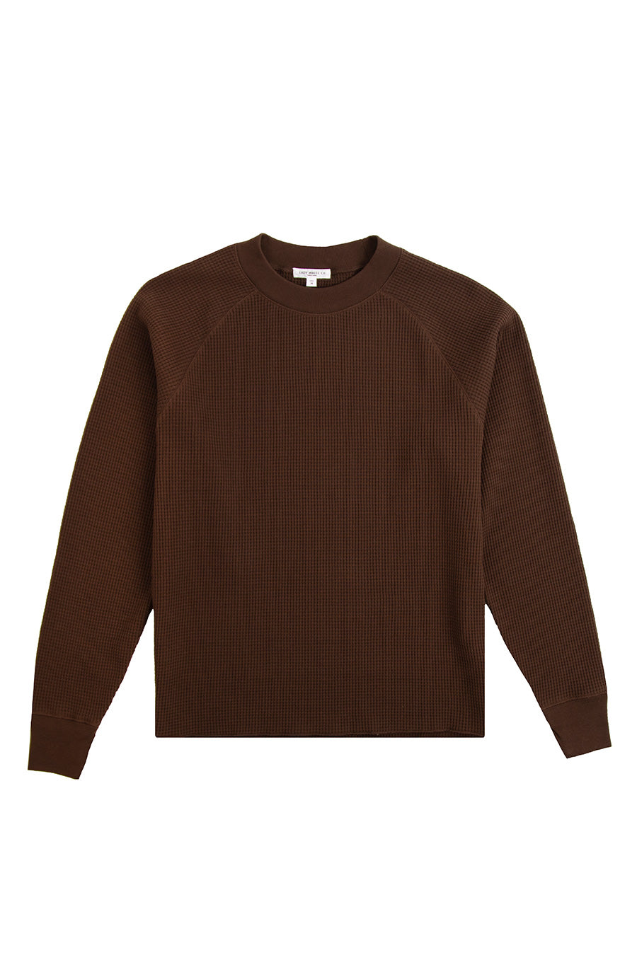 Lady White Co. - Root Brown Cropped Raglan Thermal | 1032 SPACE