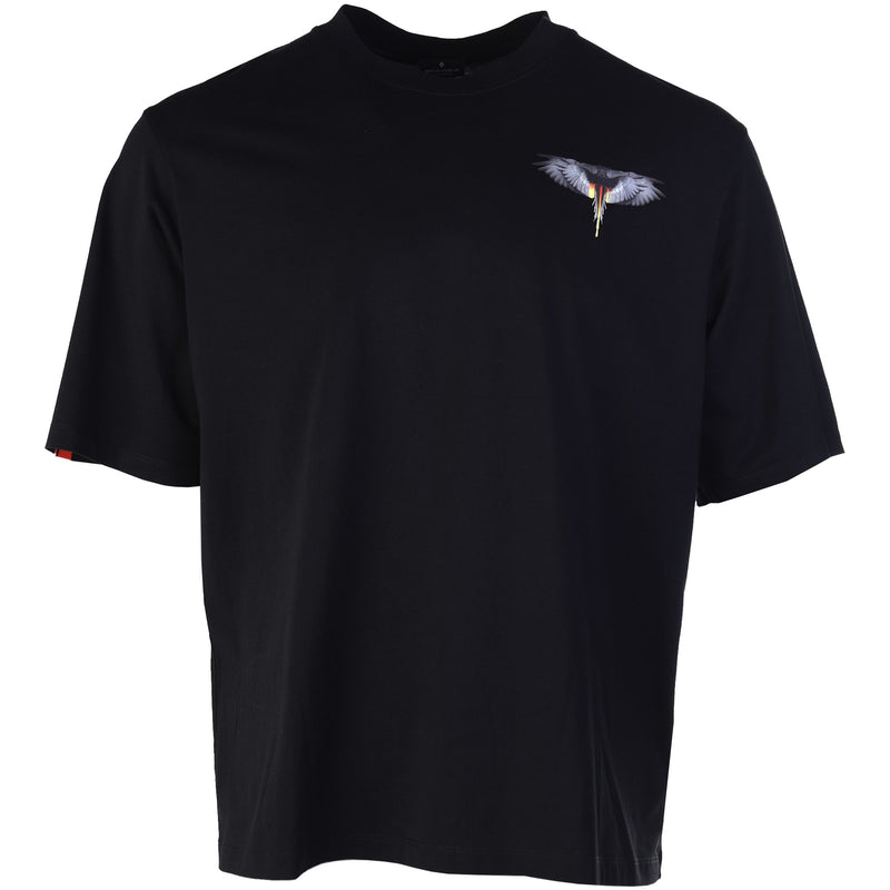 Marcelo Burlon County of Milan Black Wings Barcode T-Shirt Front