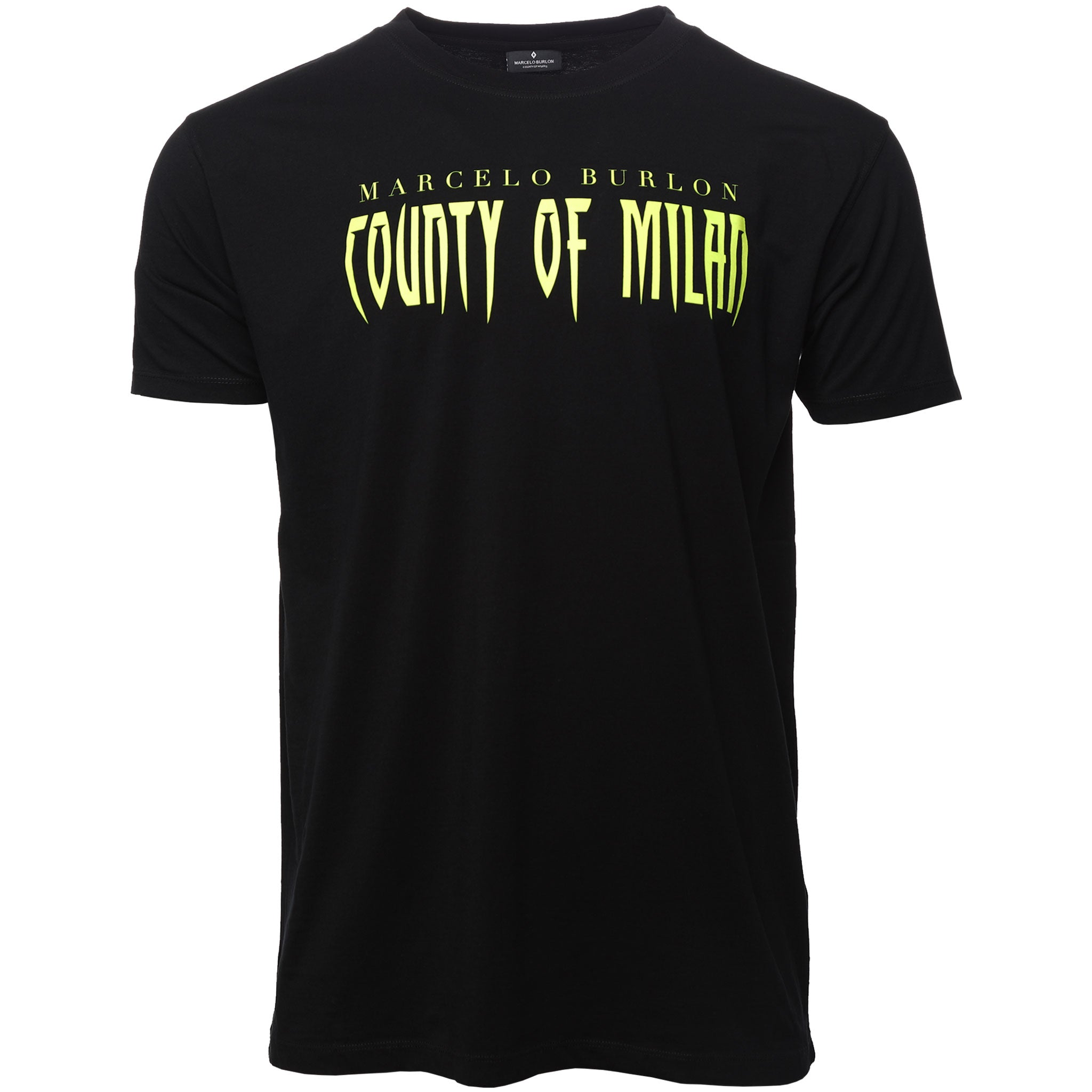 Marcelo Burlon County of Milan Black Sleepwalker T-Shirt Front New Guards Group