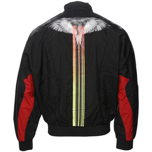 Marcelo Burlon County of Milan Black Wings Barcode Zip Jacket Back