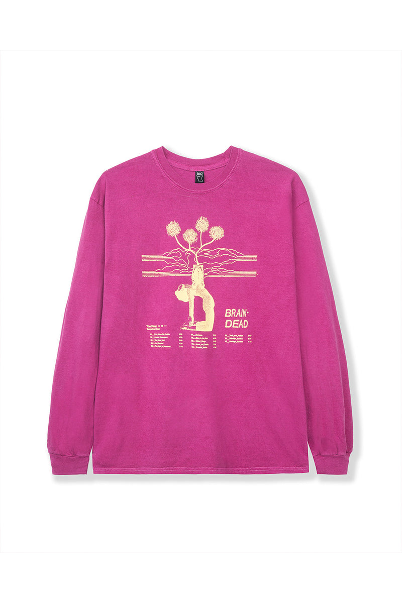 Maroon Mind Keep Long Sleeve T-Shirt