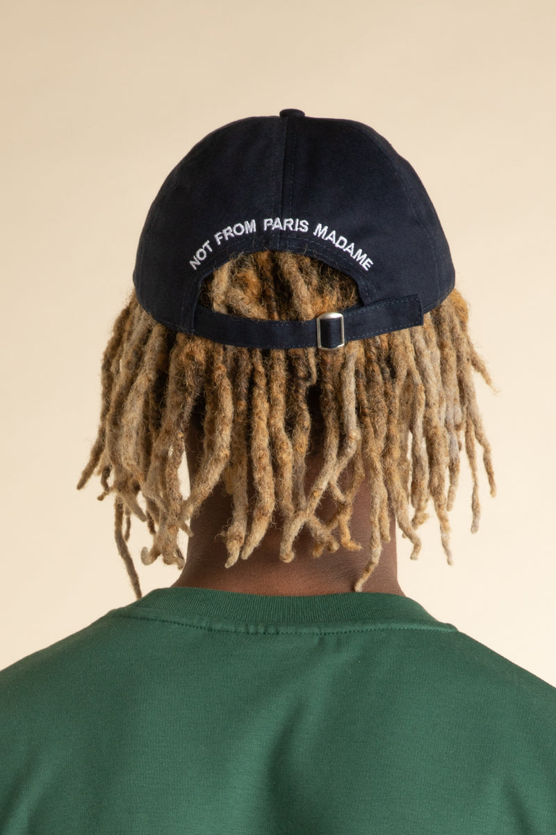 Drole de Monsieur - Navy & Beige 7 Panel Logo Hat