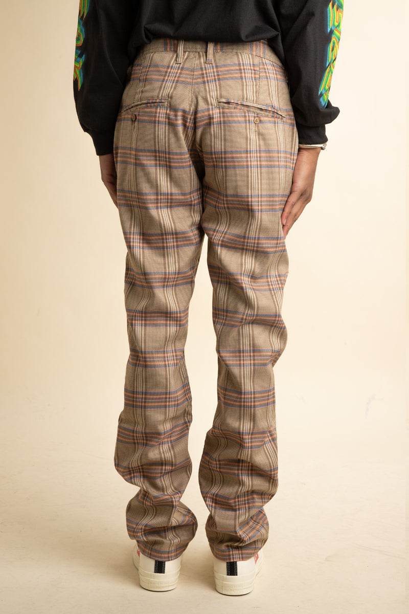 Pleasures - Tan Orchestra Plaid Pants