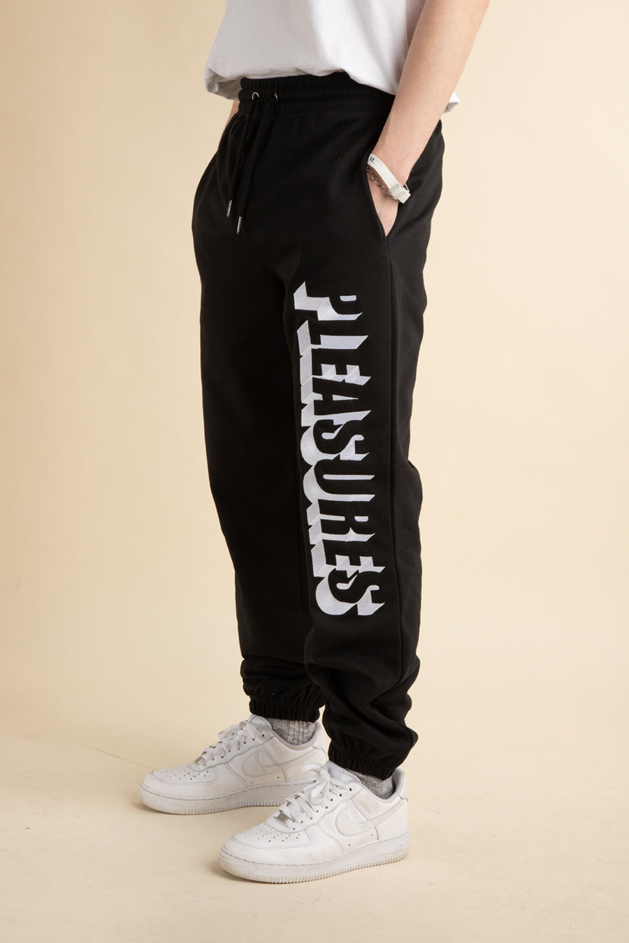 Black Harvard Embroidered Sweatpants