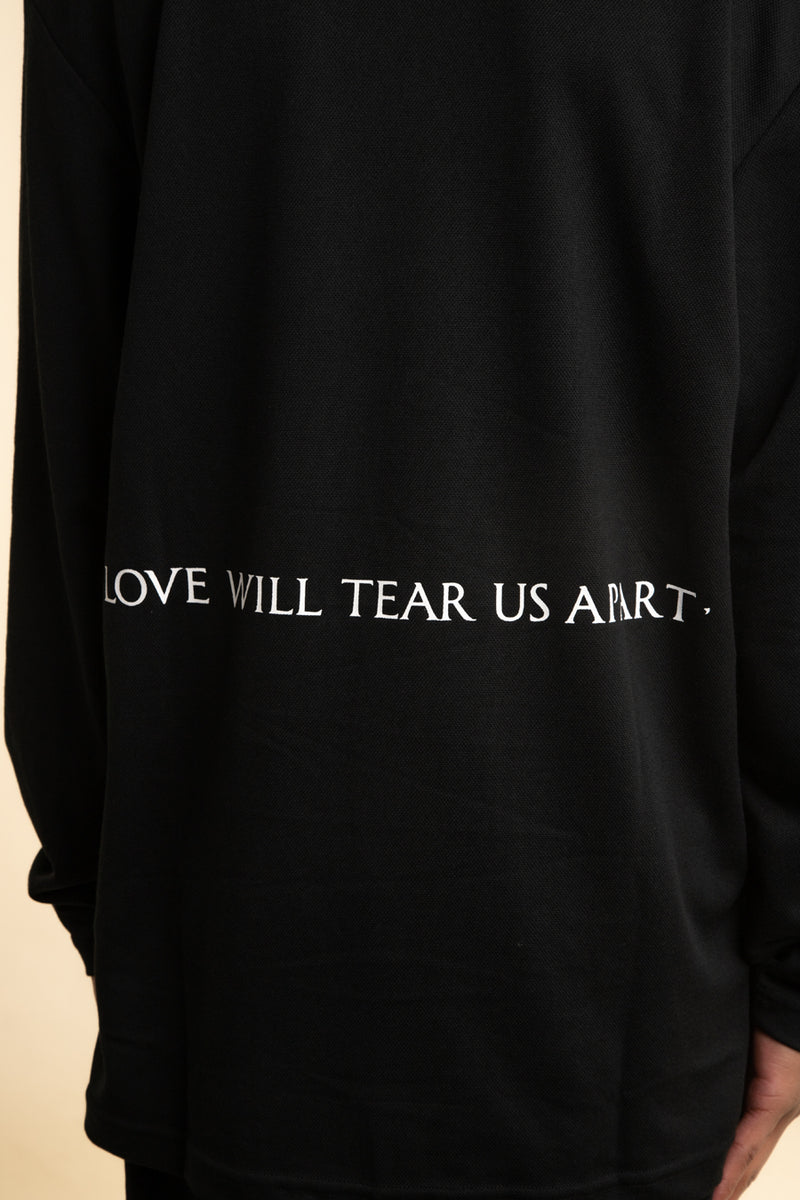 Pleasures x Joy Division - Black Apart Long Sleeve Polo