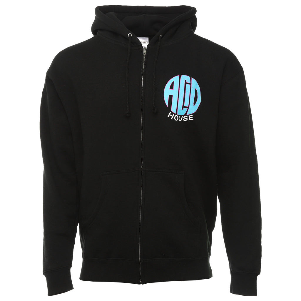 Pleasures - Black Acid House Zip Up Hoodie