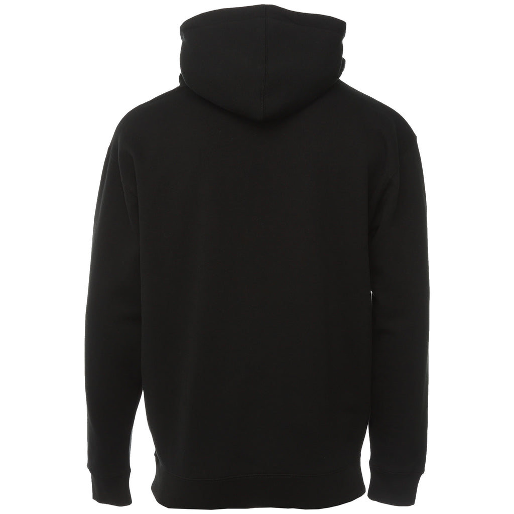 Black Feel My Face Applique Hoodie