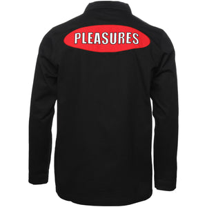 Pleasures Black Garage Shirt Jacket Back