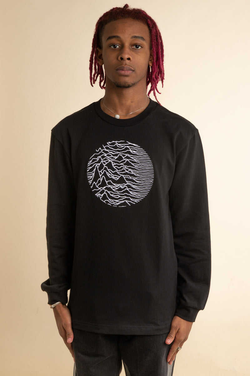 Pleasures x Joy Division - Black Lost Control Heavyweight Long Sleeve T-Shirt