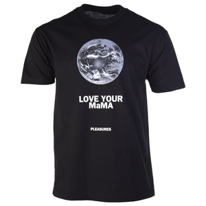 Pleasures Black Mama T-Shirt Front