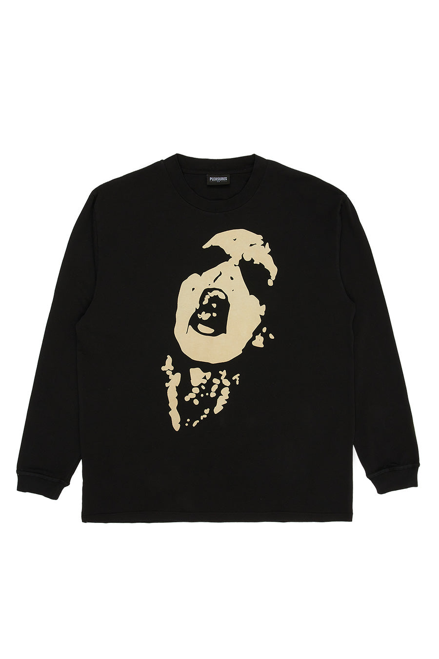 Pleasures - Black Shout Heavyweight Long Sleeve T-Shirt | 1032 SPACE