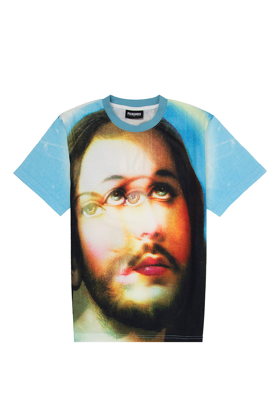 Pleasures - Blue Holy Heavyweight T-Shirt | 1032 SPACE