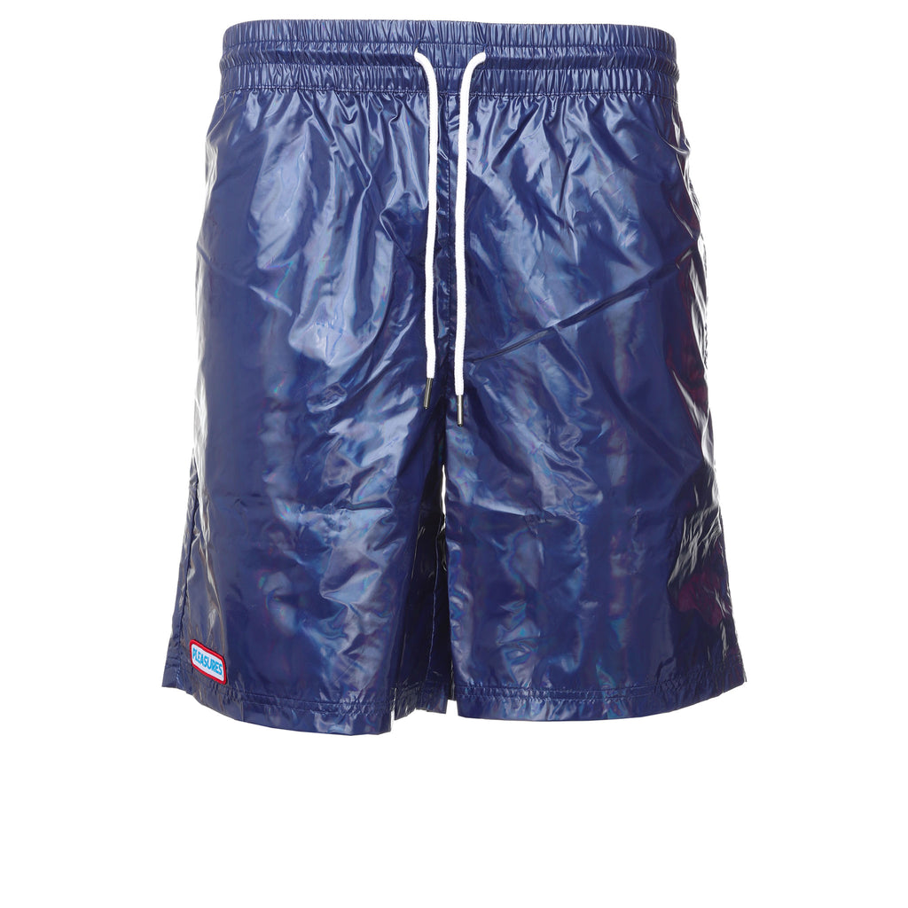 Blue Liquid Metallic Shorts
