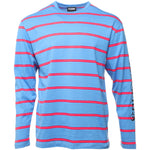 Blue Scream Striped Long Sleeve T-Shirt