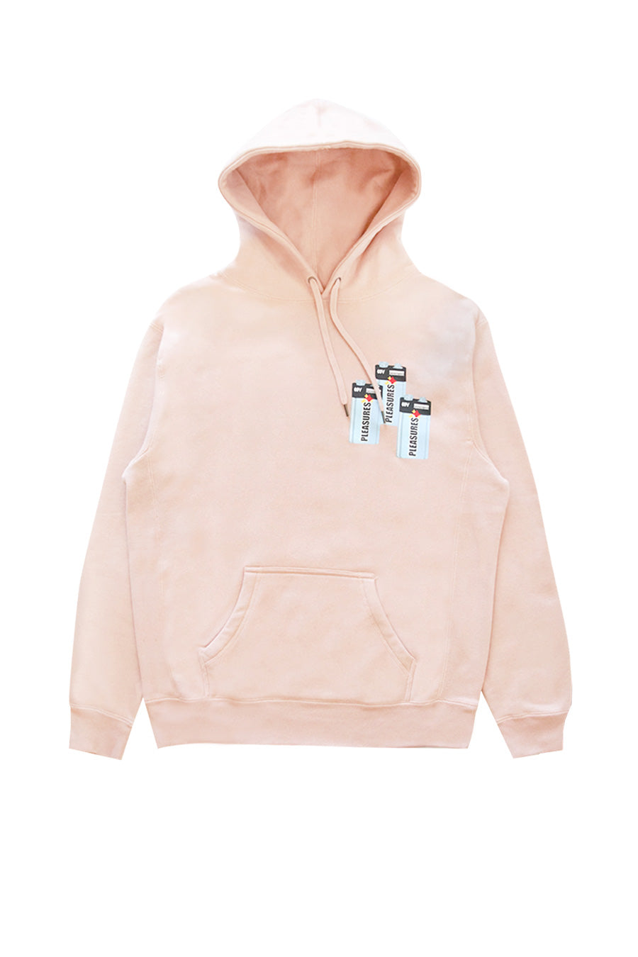 Pleasures - Pink Dusty Rose Charge Hoodie