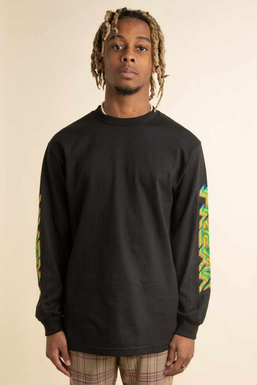 Pleasures - Black Freak Long Sleeve T-Shirt