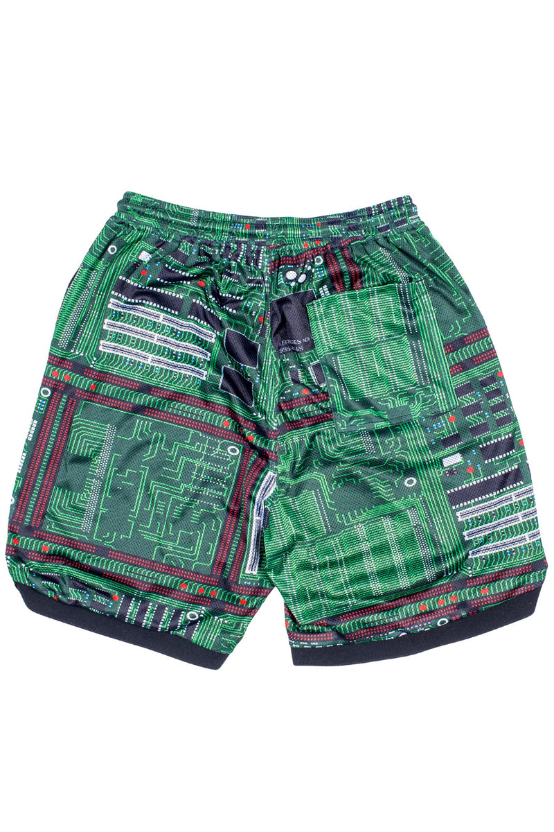 Pleasures - Green Motherboard Basketball Shorts