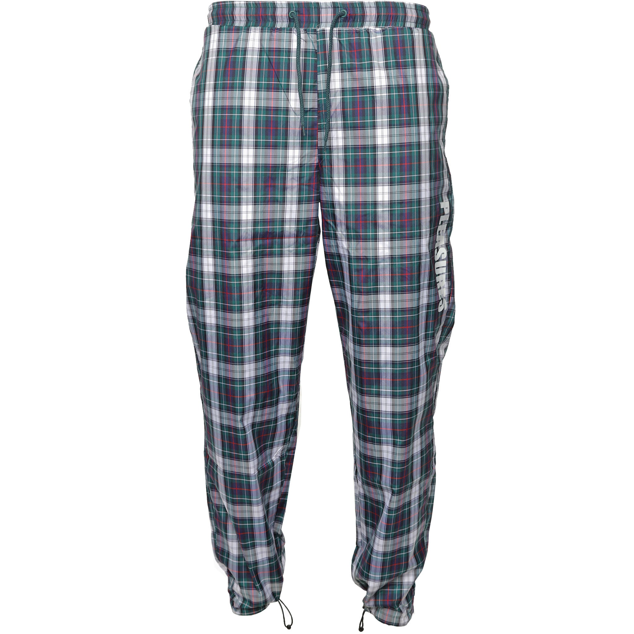 Green Plaid Athletic Track Pants