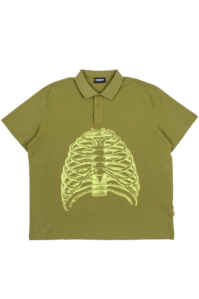 Pleasures - Green Ribs Polo Shirt
