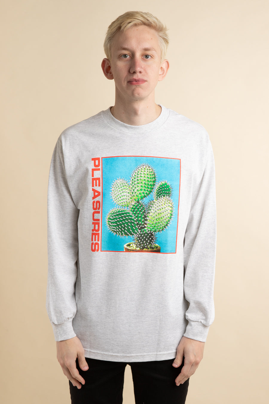 Grey Spike Long Sleeve T-Shirt