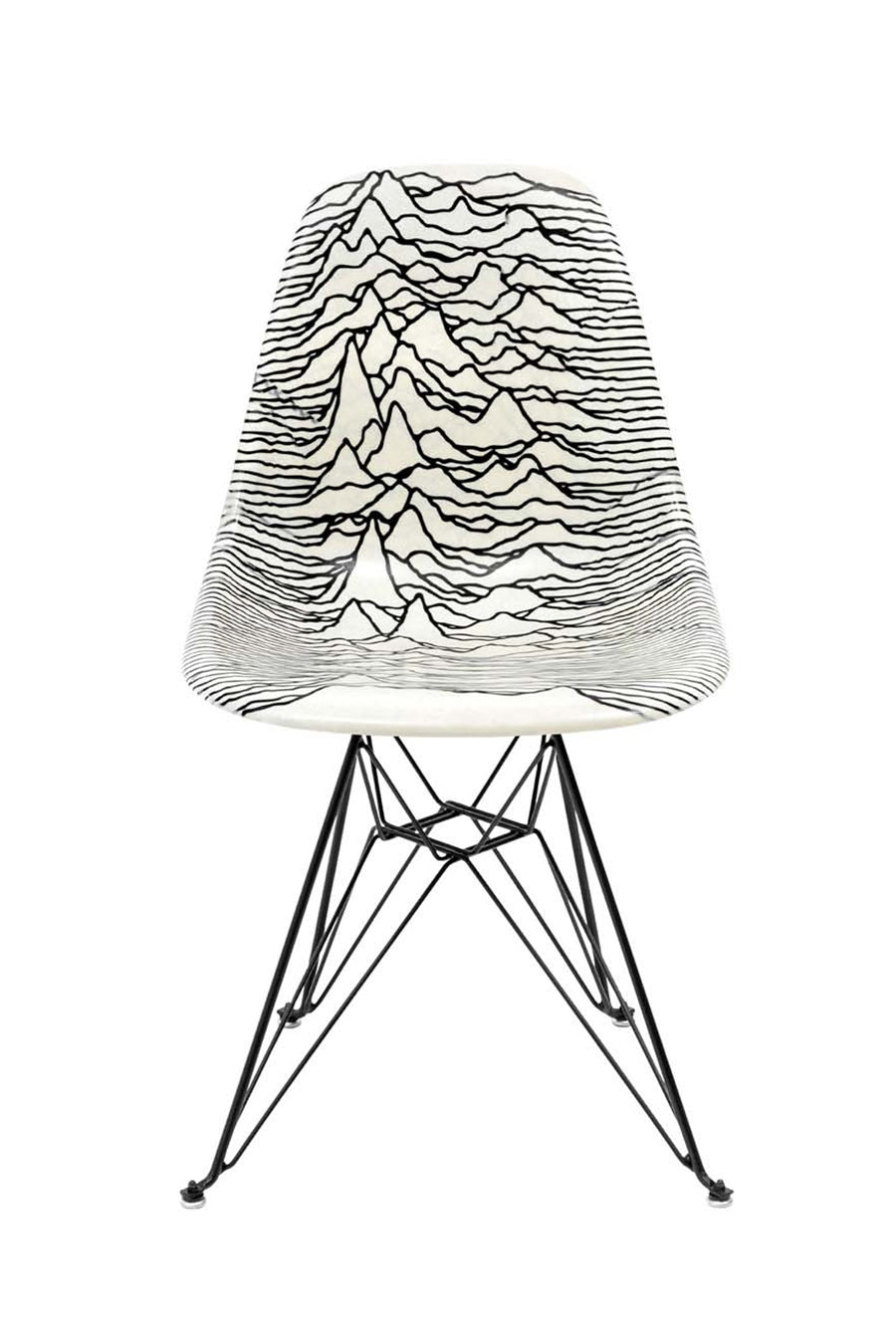 Pleasures x Modernica - White Unknown Pleasures Modernica Shell Chair