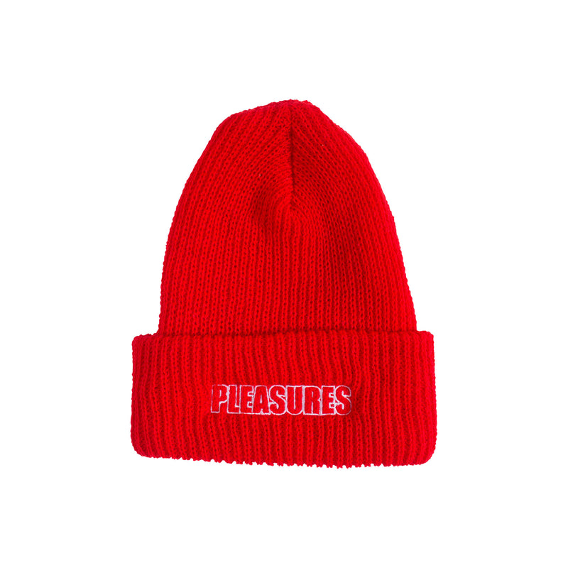 Red Feel My Face Beanie
