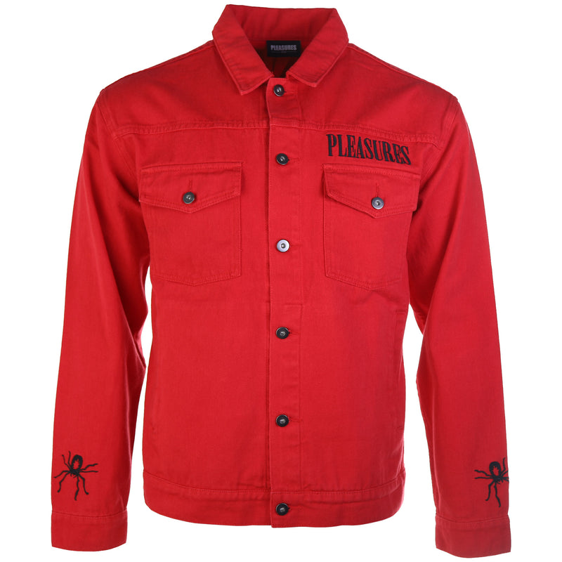 Red Web Denim Jacket