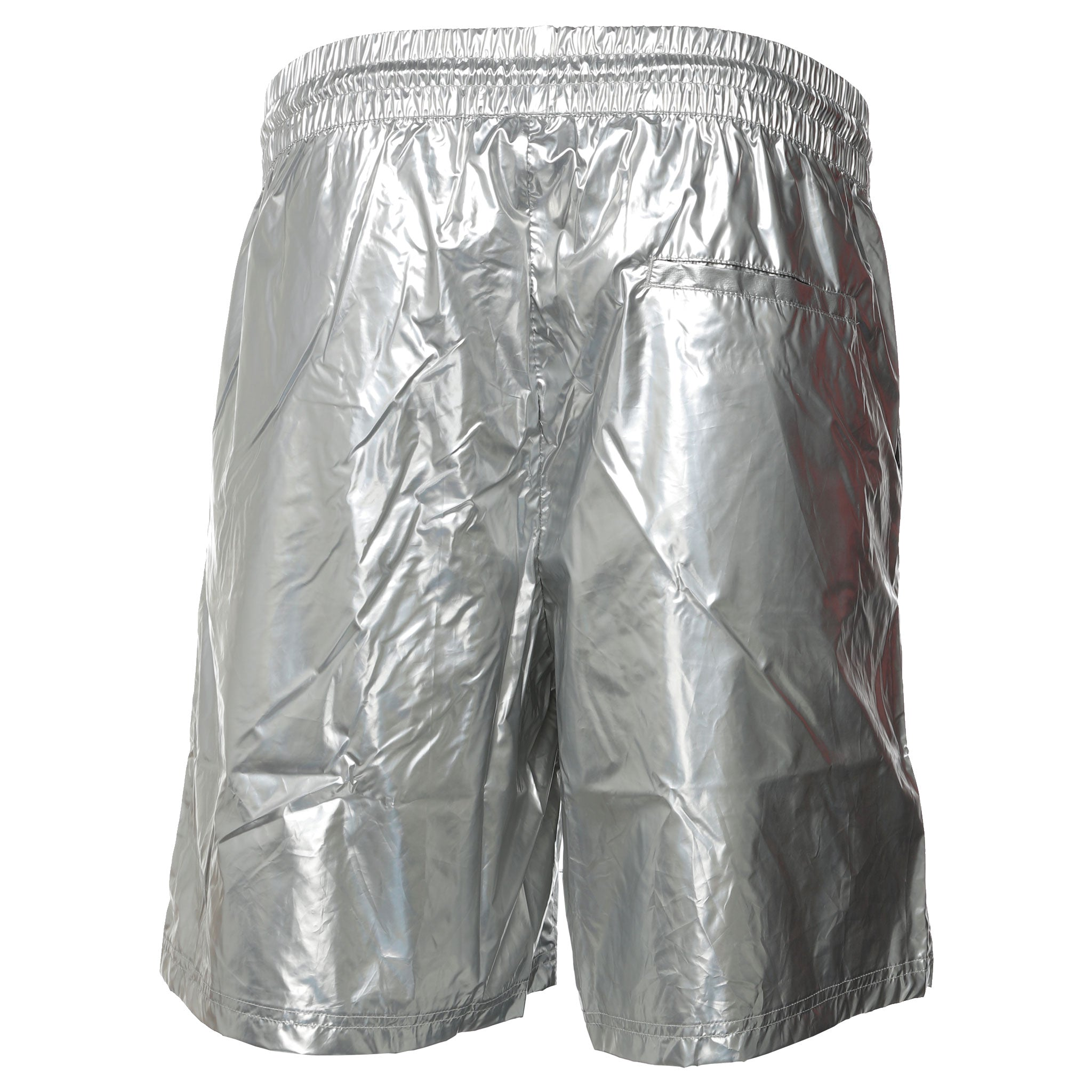 Pleasures - Silver Liquid Metallic Shorts
