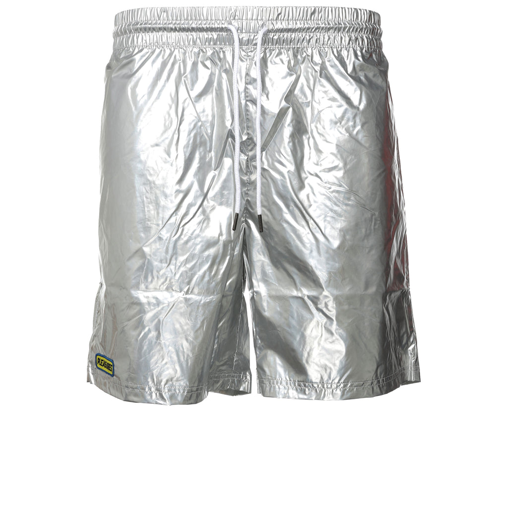 Silver Liquid Metallic Shorts