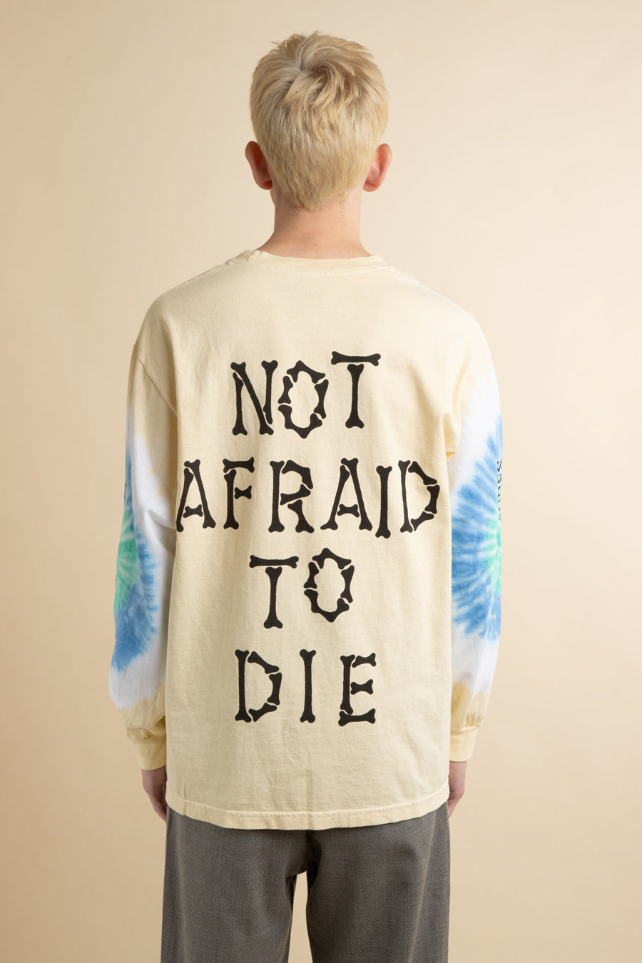Tan Tie Die Not Afraid to Die Long Sleeve T-Shirt