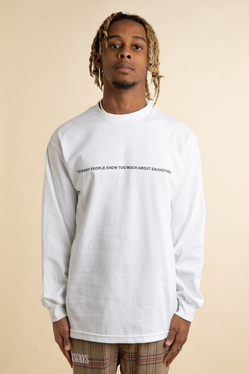 Pleasures - White Too Much Long Sleeve T-Shirt