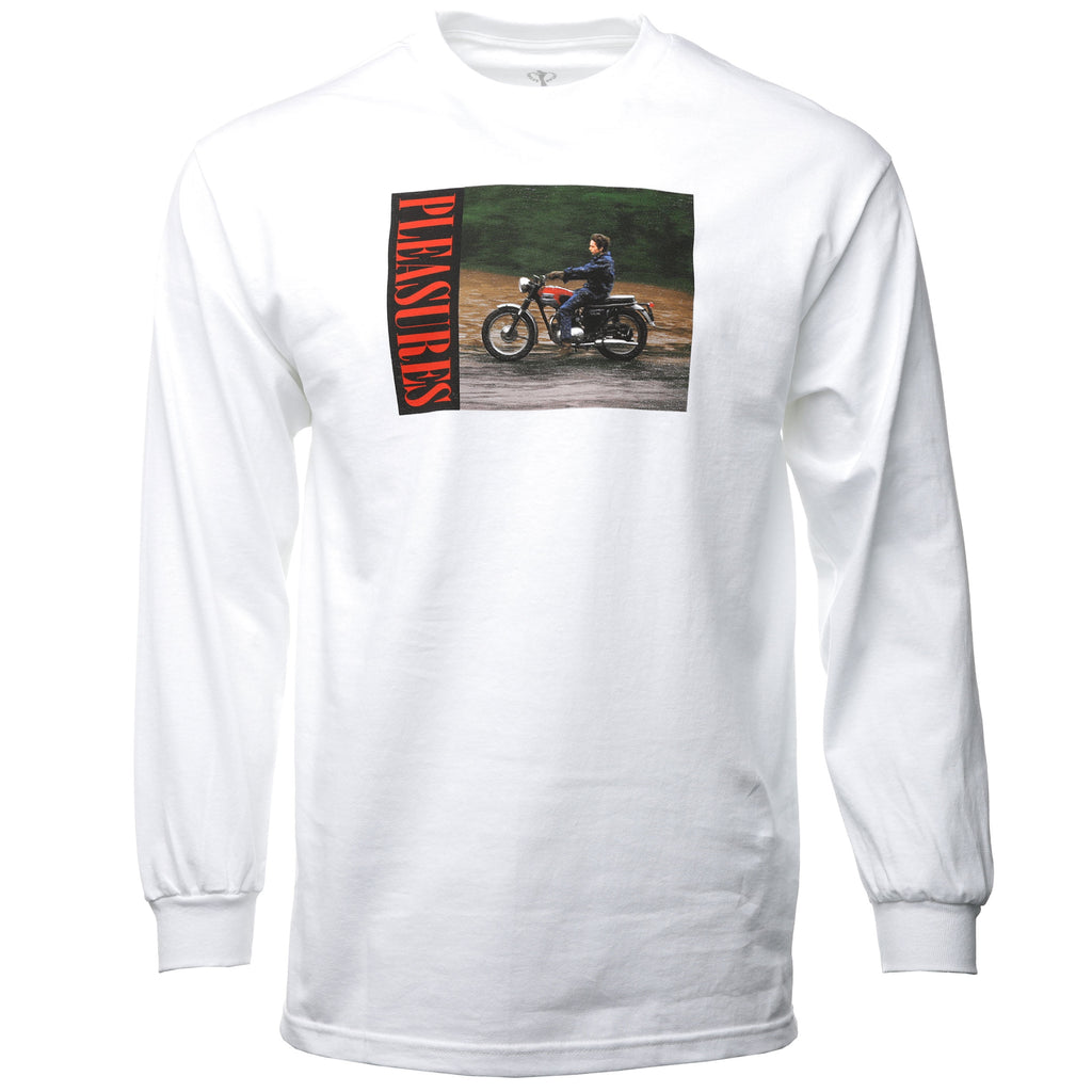 pleasures - White Bob Dylan Ride Long Sleeve T-Shirt