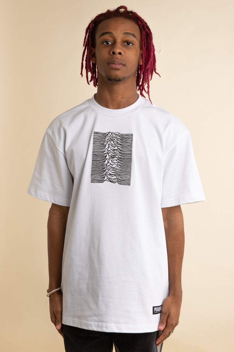 Pleasures x Joy Division - White Shadow Play Embroidered T-Shirt