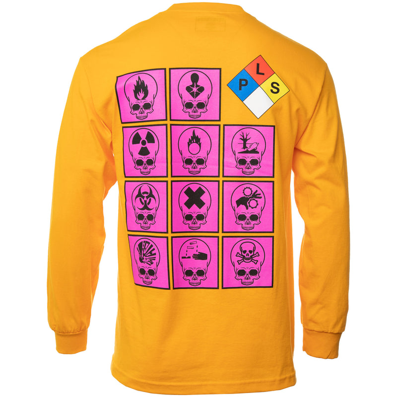 Yellow Biohazard Long Sleeve T-Shirt