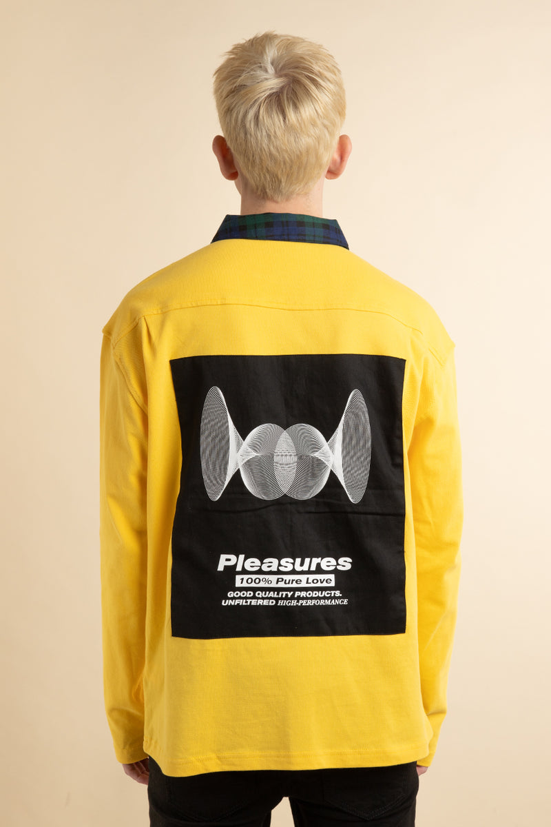 Pleasures - Yellow Pure Love Quarter Zip Polo