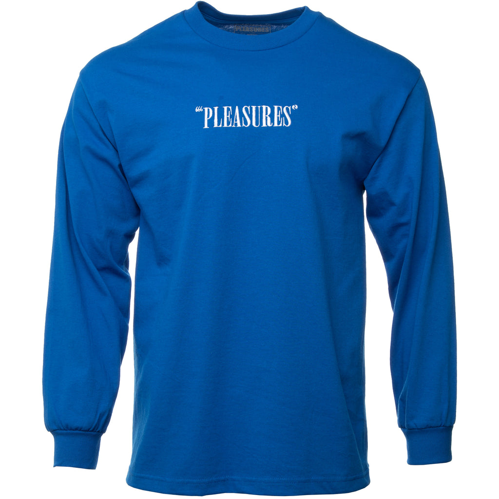 Blue Core Logo Embroidered Long Sleeve T-Shirt