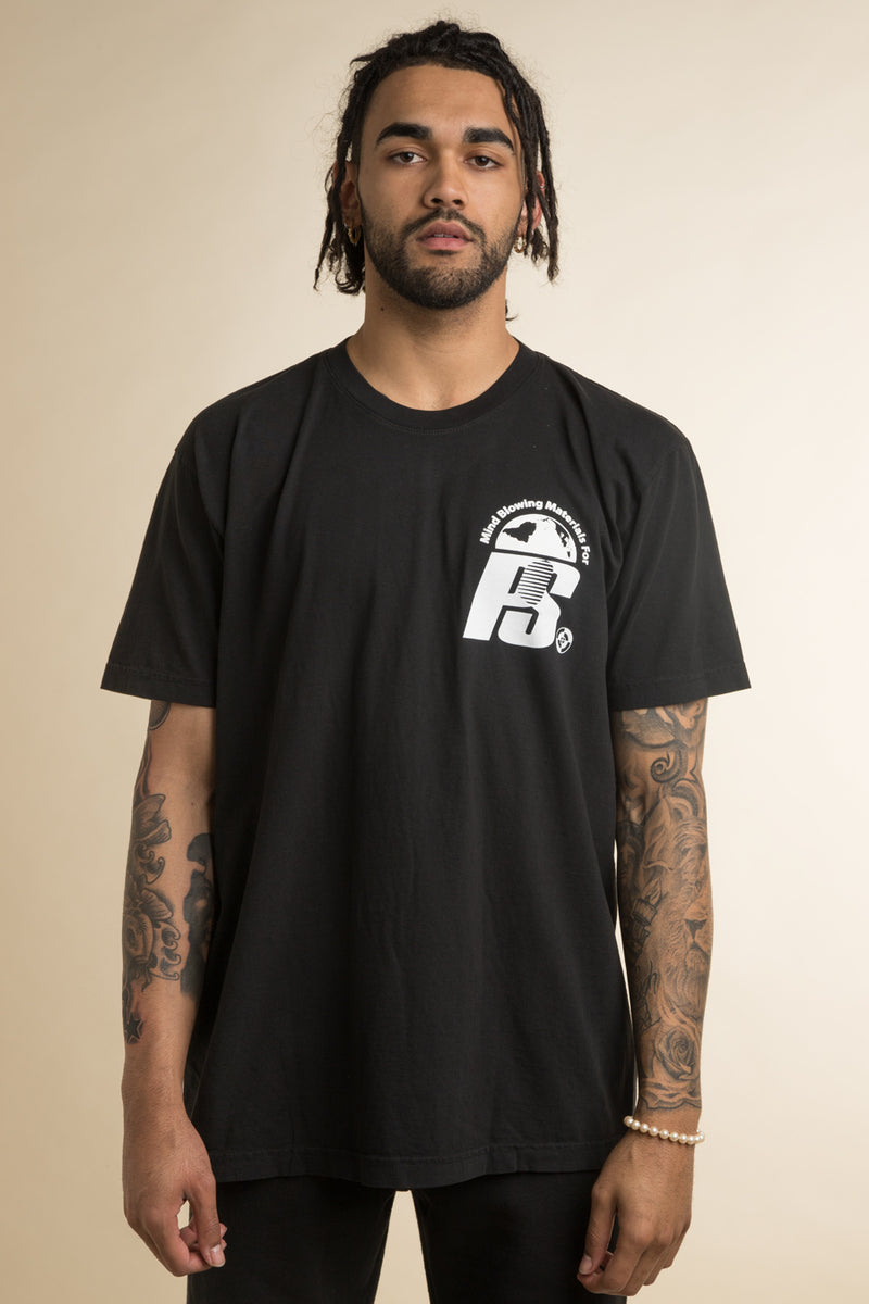 Powers Supply - Black Stacked Lockup T-Shirt